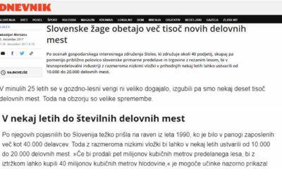 Slovenske žage obetajo več tisoč novih delovnih mest