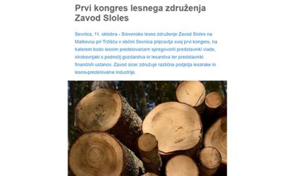 Prvi kongres lesnega združenja Zavod Sloles